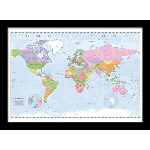 Ace Framing Political Map 24x36 Poster thumbnail