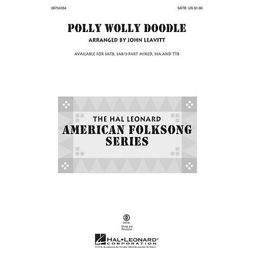 Hal Leonard Polly Wolly Doodle SATB arranged by John Leavitt thumbnail