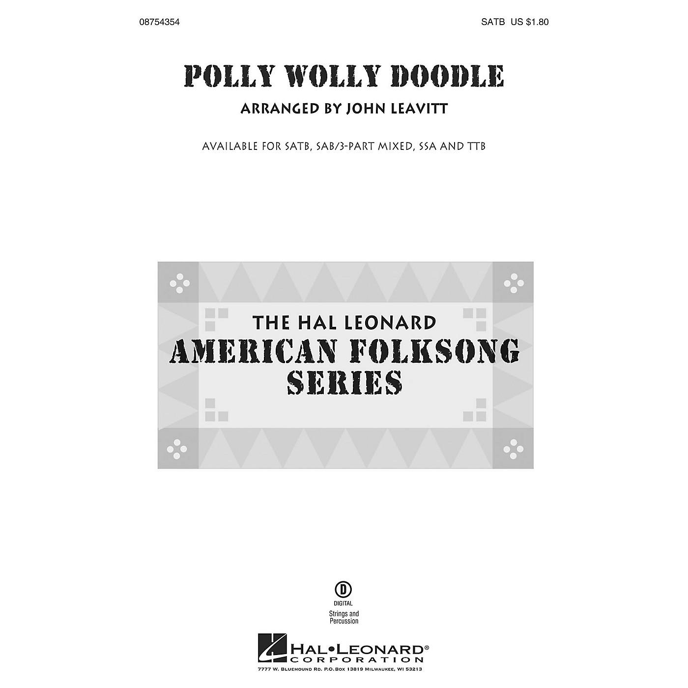 Hal Leonard Polly Wolly Doodle TTB Arranged by John Leavitt thumbnail