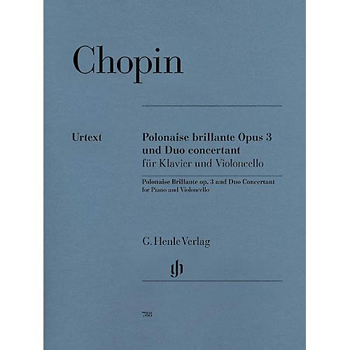 G. Henle Verlag Polonaise Brillante C Major Op. 3 and Duo Concertant E Major Henle Music Folios Series Softcover thumbnail