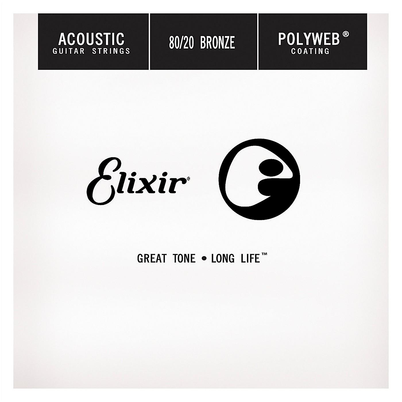 Elixir Polyweb .024 Acoustic Guitar String 4-Pack Singles thumbnail
