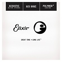 Elixir Polyweb .024 Acoustic Guitar String 4-Pack Singles