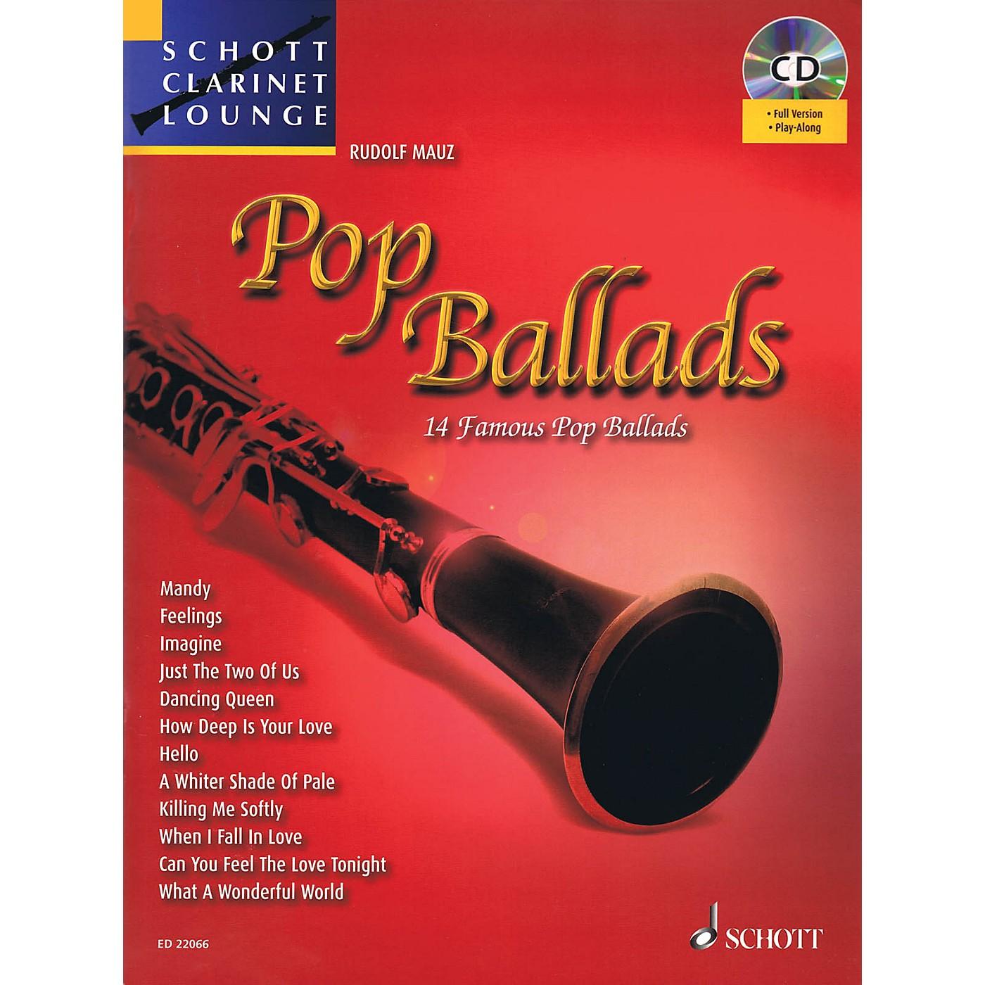 Schott Pop Ballads (Schott Clarinet Lounge) Woodwind Series BK/CD thumbnail