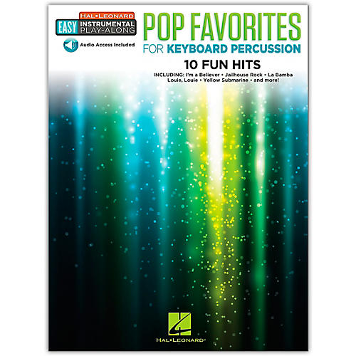 Hal Leonard Pop Favorites for Keyboard Percussion Easy Instrumental Play-Along Book/Audio Online thumbnail
