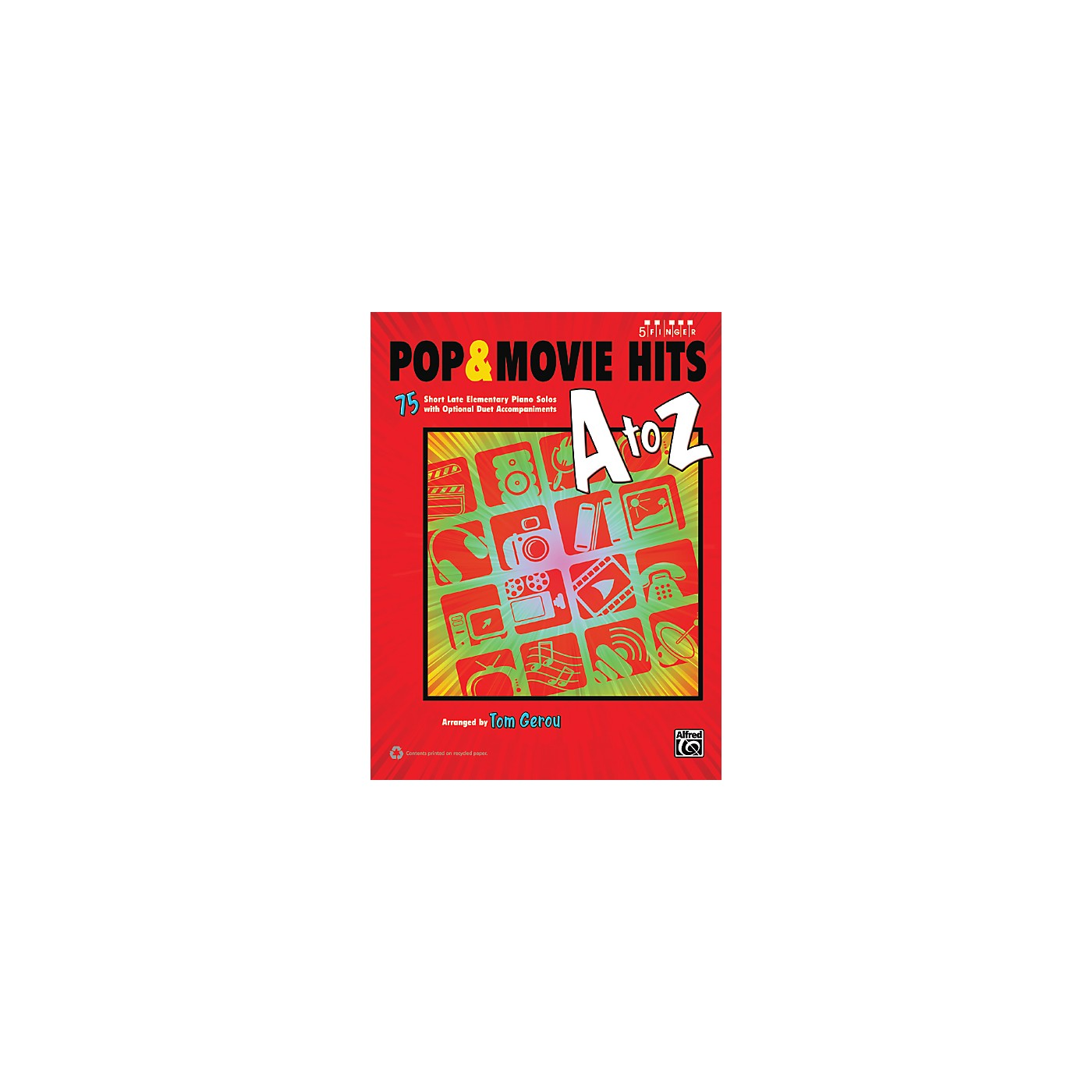 Alfred Pop & Movie Hits A to Z Five Finger Piano Book thumbnail