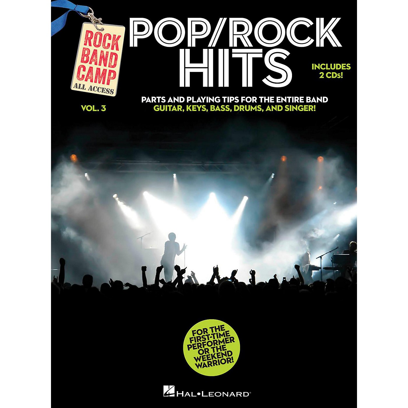 Hal Leonard Pop/Rock Hits - Rock Band Camp Vol. 3 (Book/2-CD Pack) Vocal, Guitar, Keys, Bass, Drums thumbnail