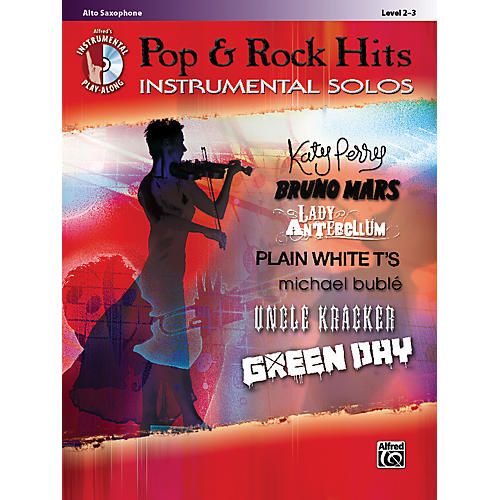 Alfred Pop & Rock Hits Instrumental Solos Alto Saxophone Book & CD thumbnail