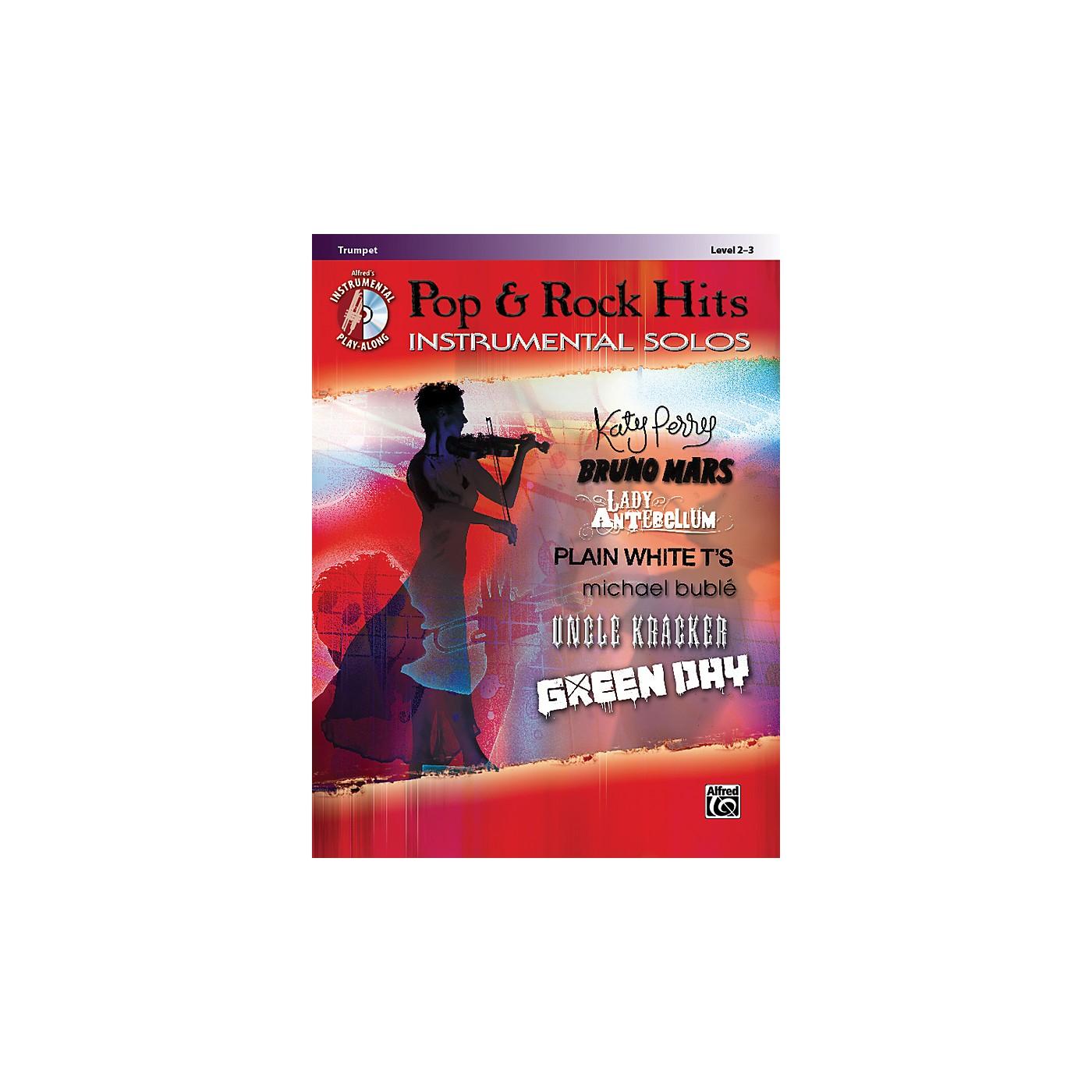 Alfred Pop & Rock Hits Instrumental Solos Trumpet Book & CD thumbnail
