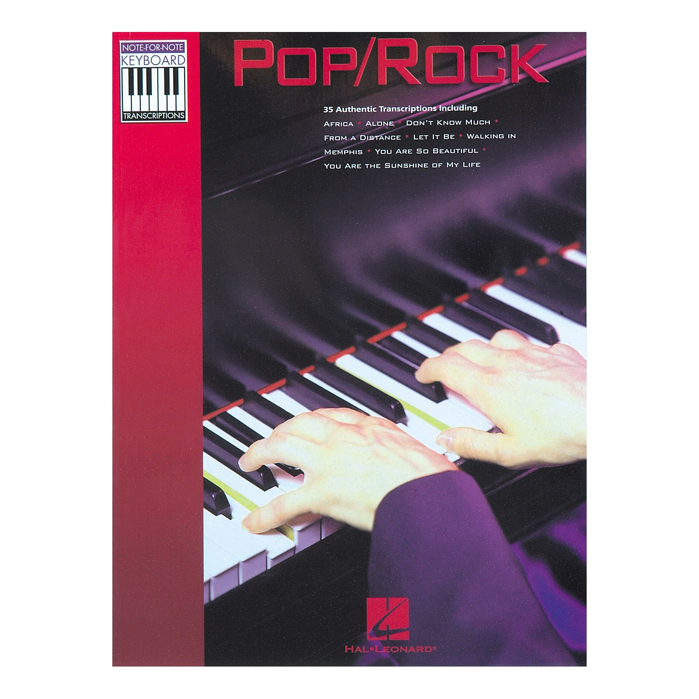 Hal Leonard Pop Rock Keyboard Transcriptions Songbook thumbnail