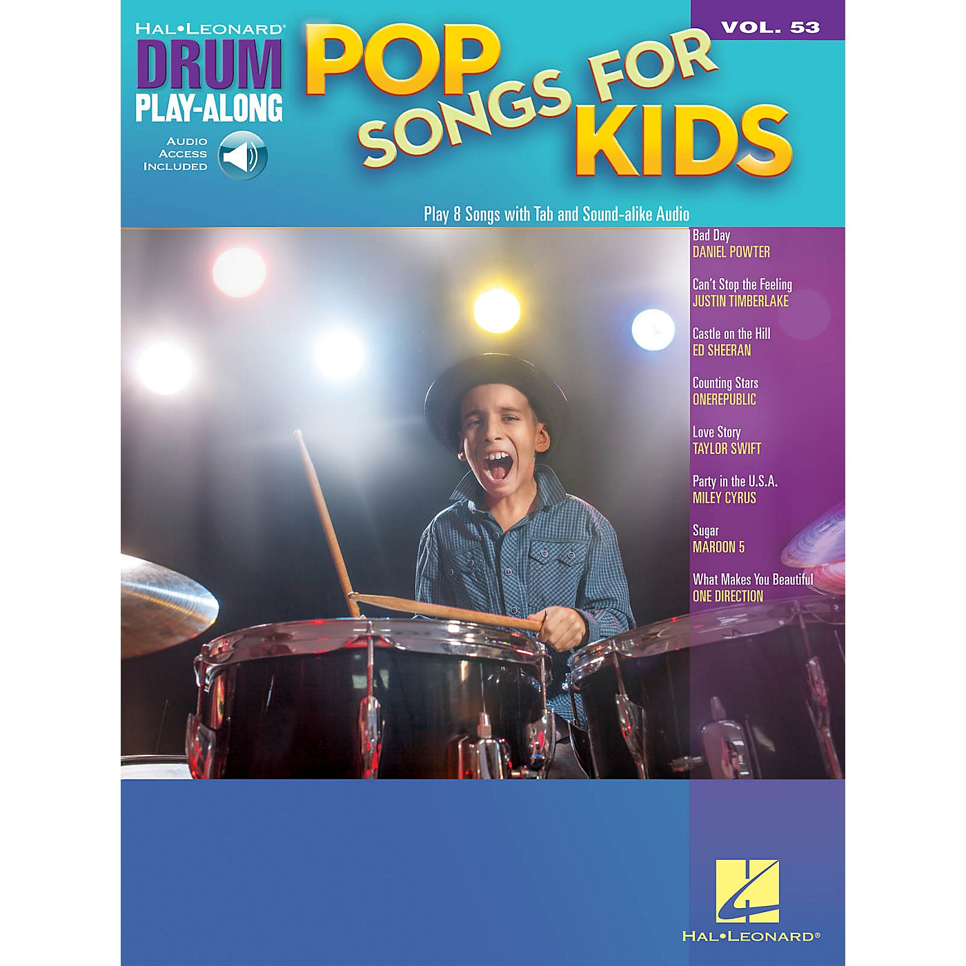 Hal Leonard Pop Songs for Kids Drum Play-Along Volume 53 Book/Audio Online thumbnail