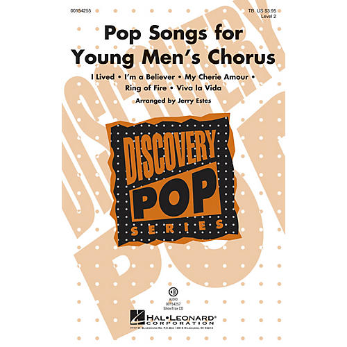 Hal Leonard Pop Songs for Young Men's Chorus (Discovery Level 2) TB arranged by Jerry Estes thumbnail