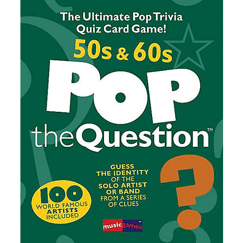 Music Sales Pop The Question 50's & 60's - The Ultimate Pop Trivia Quiz Card Game-thumbnail