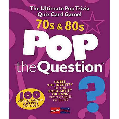 Music Sales Pop The Question 70's & 80's - The Ultimate Pop Trivia Quiz Card Game thumbnail