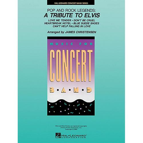 Hal Leonard Pop and Rock Legends: A Tribute to Elvis Concert Band Level 4 by Elvis Arranged by James Christensen thumbnail