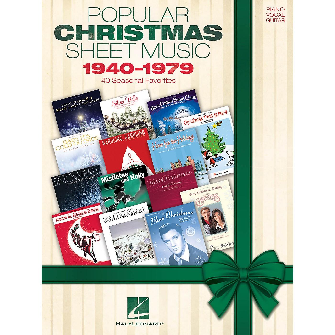 Hal Leonard Popular Christmas Sheet Music: 1940-1979 Piano/Vocal/Guitar Songbook thumbnail