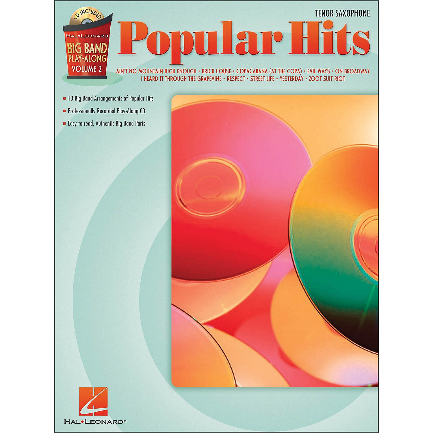 Hal Leonard Popular Hits Big Band Play-Along Volume 2 Tenor Sax thumbnail