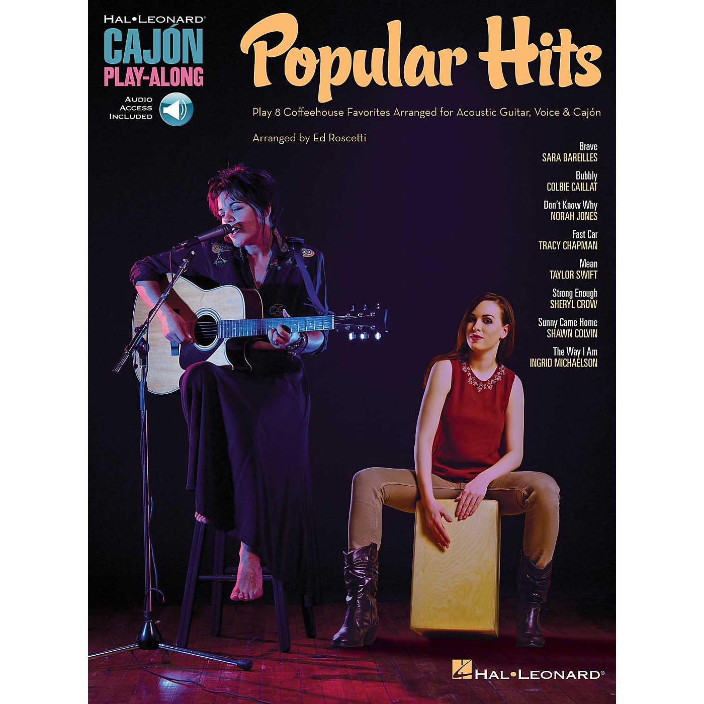 Hal Leonard Popular Hits (Cajon Play-Along) Percussion Series Softcover Audio Online Performed by Various thumbnail