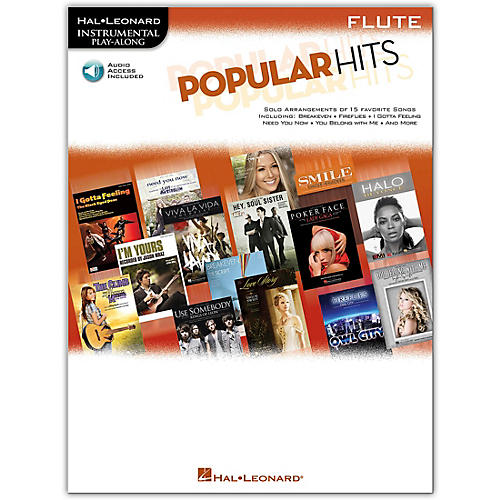 Hal Leonard Popular Hits For Flute - Instrumental Play-Along Book/CD-thumbnail