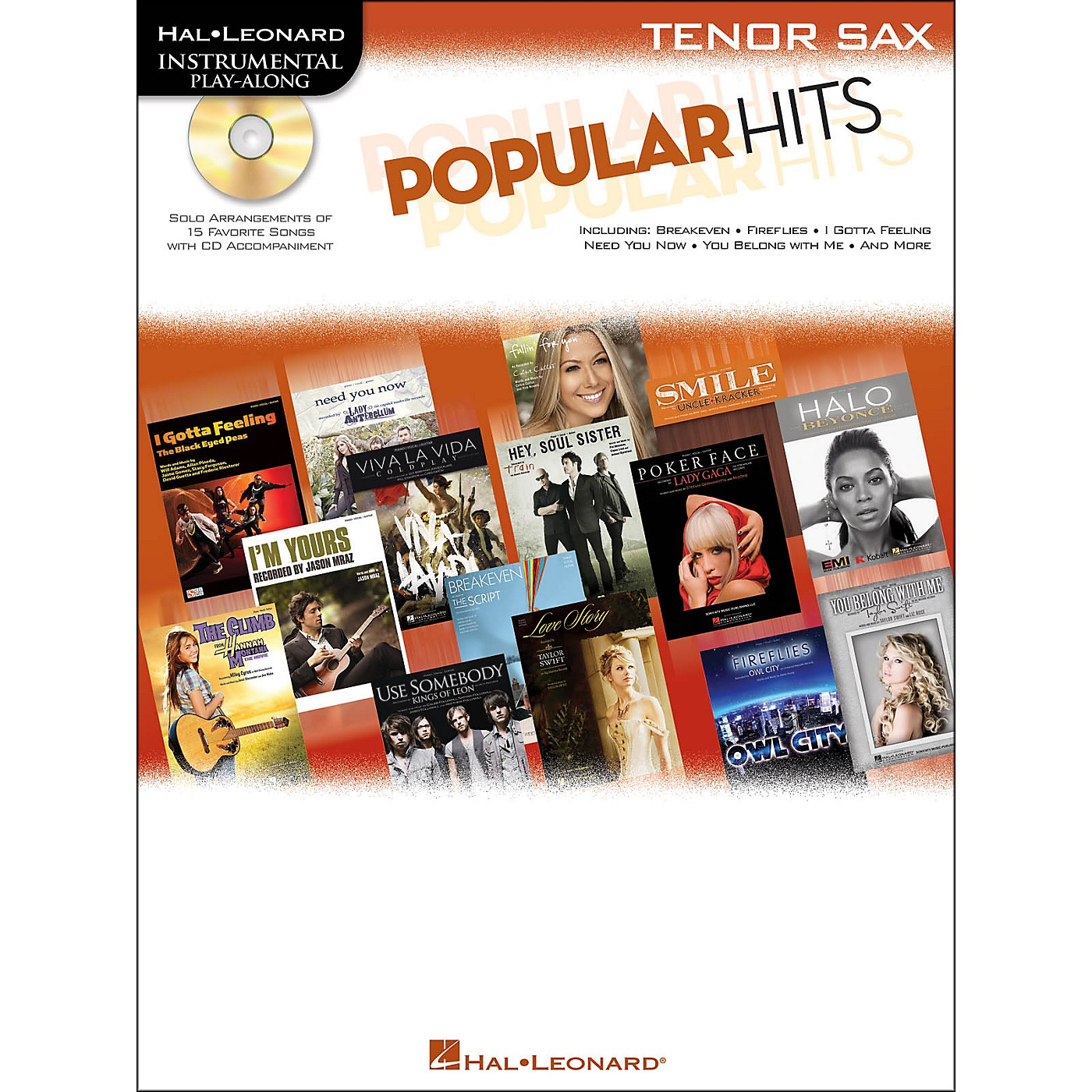Hal Leonard Popular Hits For Tenor Sax - Instrumental Play-Along Book/CD thumbnail
