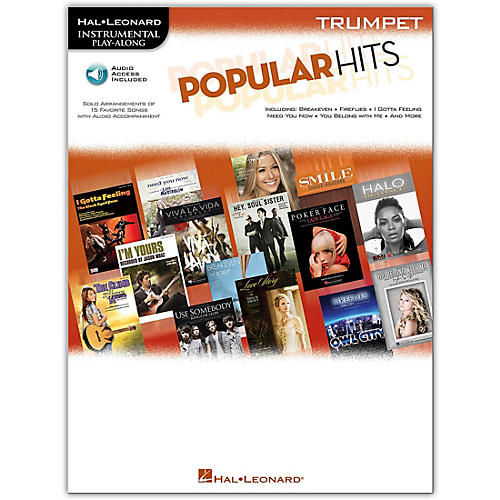 Hal Leonard Popular Hits For Trumpet - Instrumental Play-Along Book/CD-thumbnail