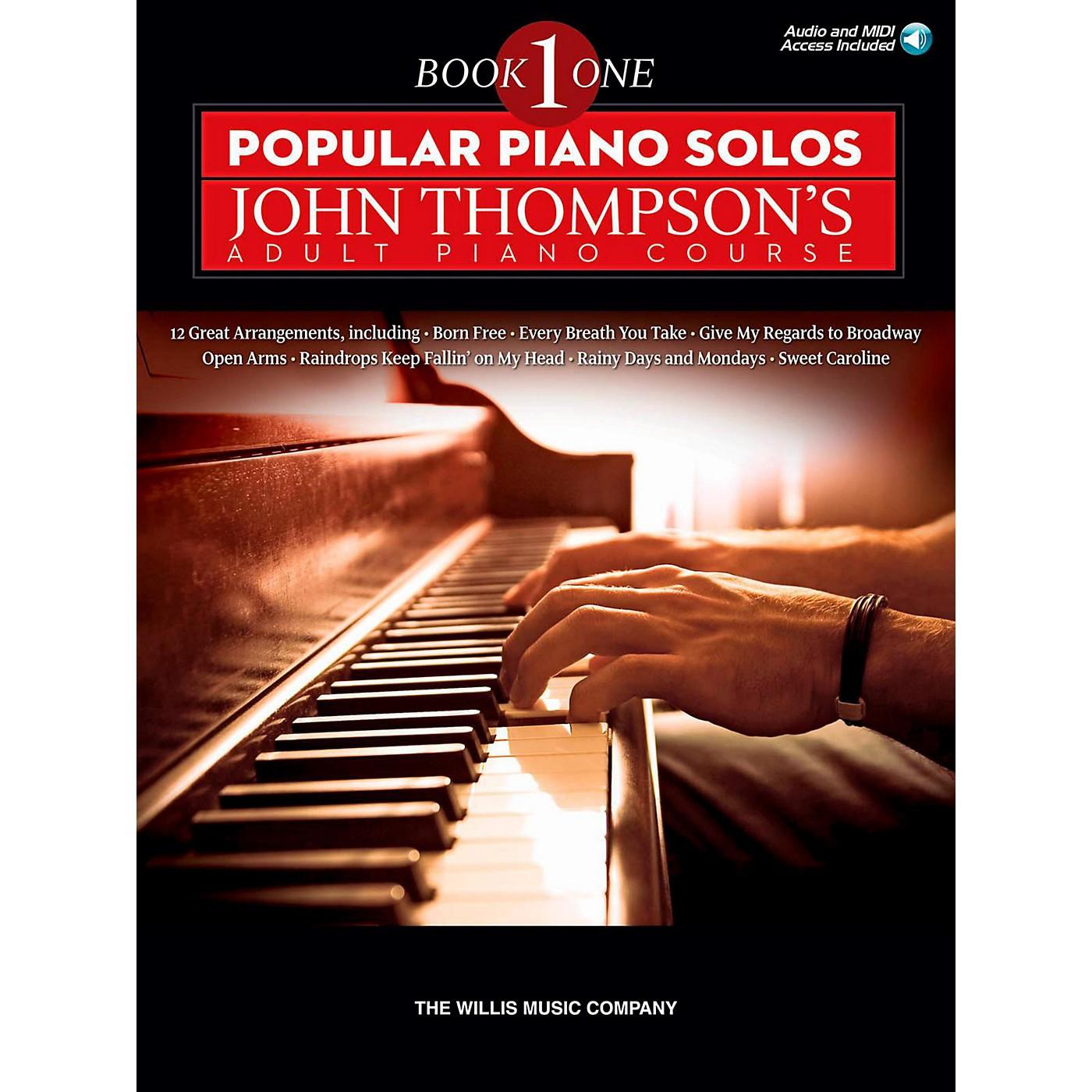 Hal Leonard Popular Piano Solos - John Thompson's Adult Piano Course Book 1 Book/Audio Online thumbnail