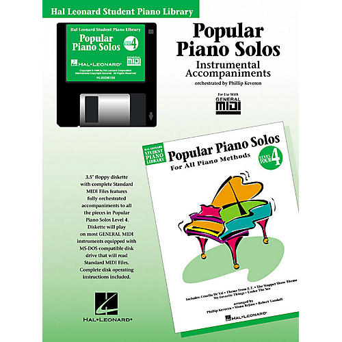 Hal Leonard Popular Piano Solos - Level 4 - GM Disk Piano Library Series Disk thumbnail