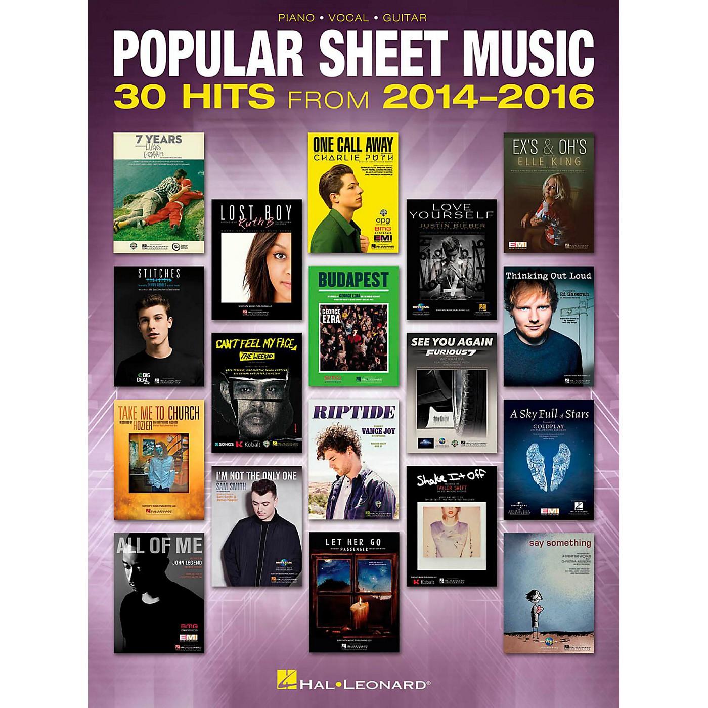 Hal Leonard Popular Sheet Music - 30 Hits from 2014-2016 Piano/Vocal/Guitar Songbook thumbnail