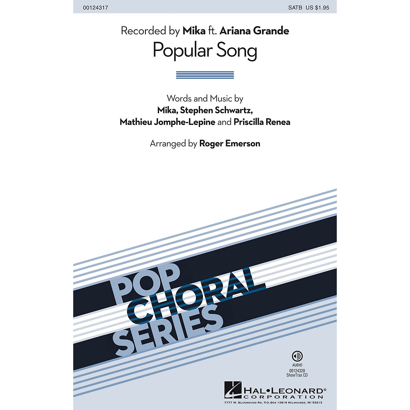 Hal Leonard Popular Song SAB by Mika Arranged by Roger Emerson thumbnail