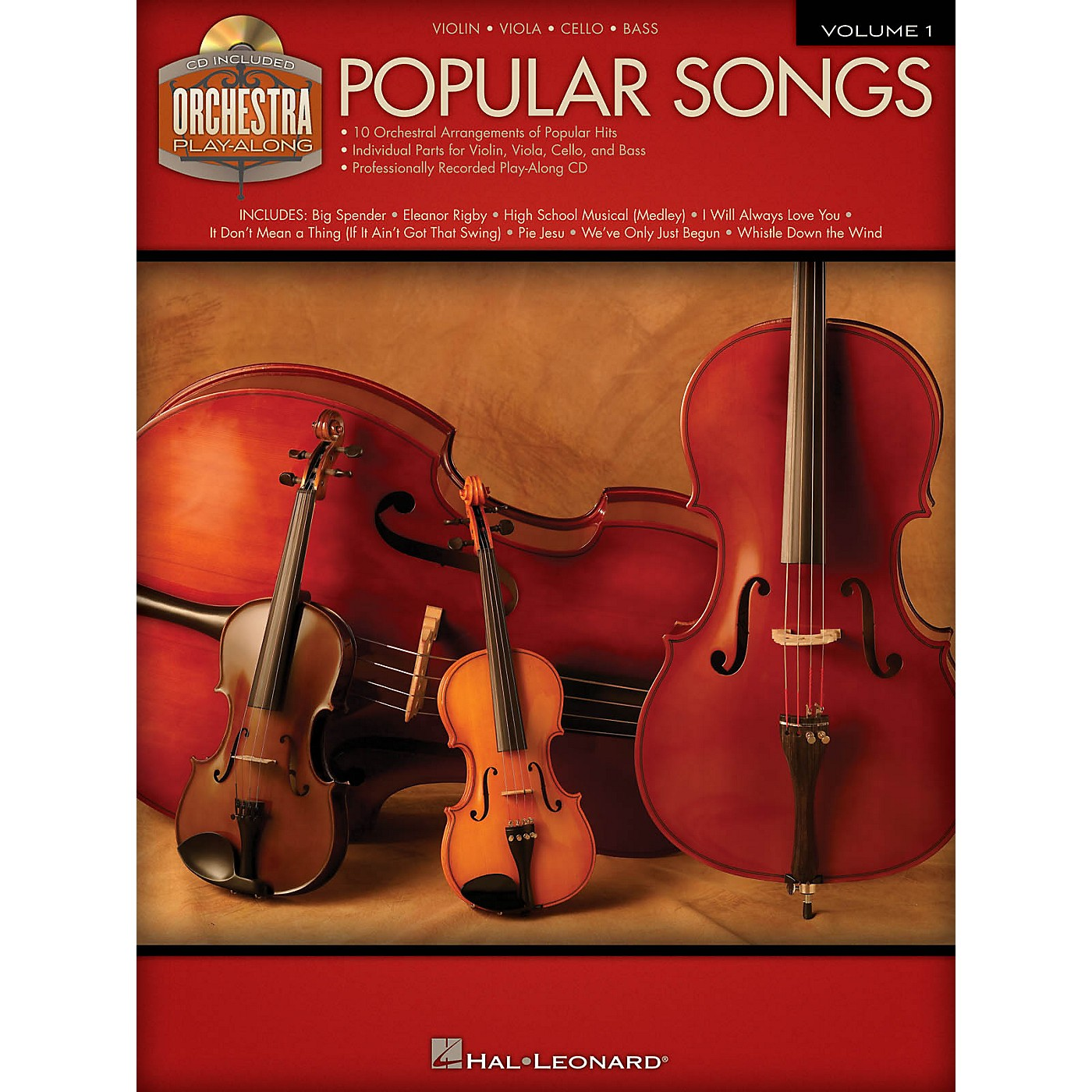 Hal Leonard Popular Songs (Orchestra Play-Along Volume 1) Orchestra Play-Along Series Softcover with CD thumbnail