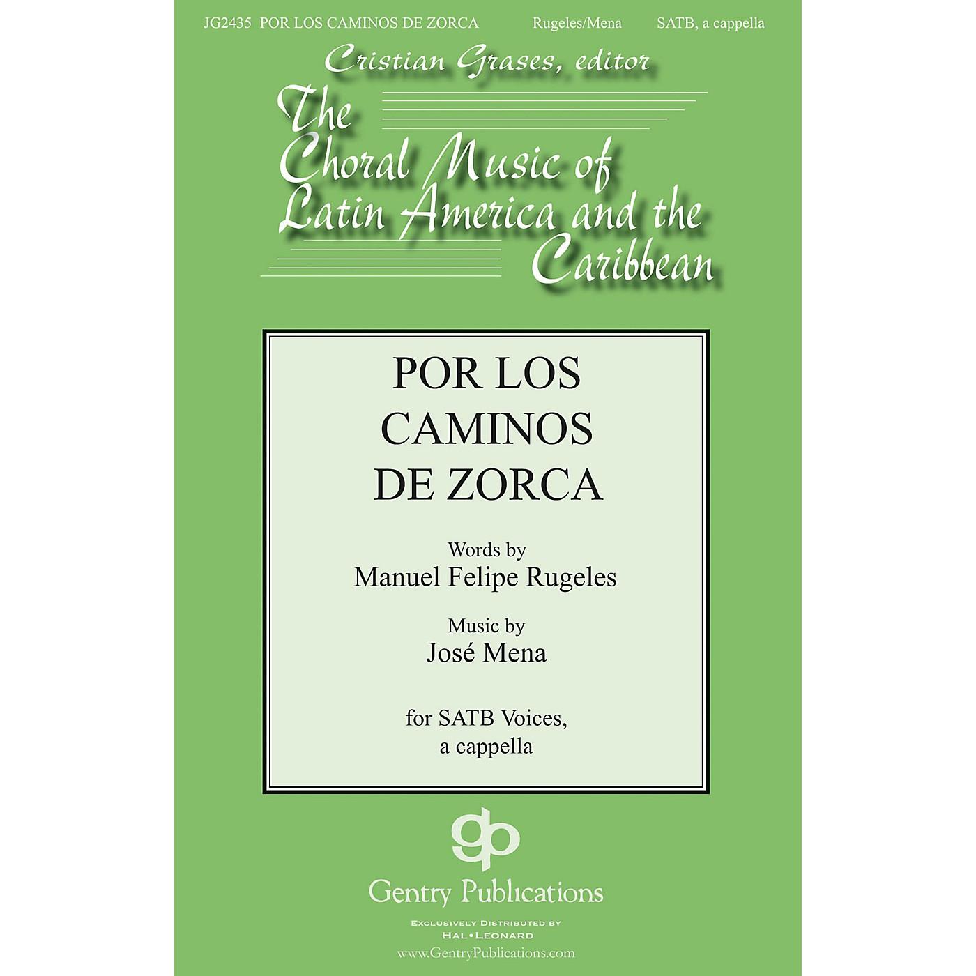 Gentry Publications Por Los Caminos SATB a cappella composed by Jose Mena thumbnail