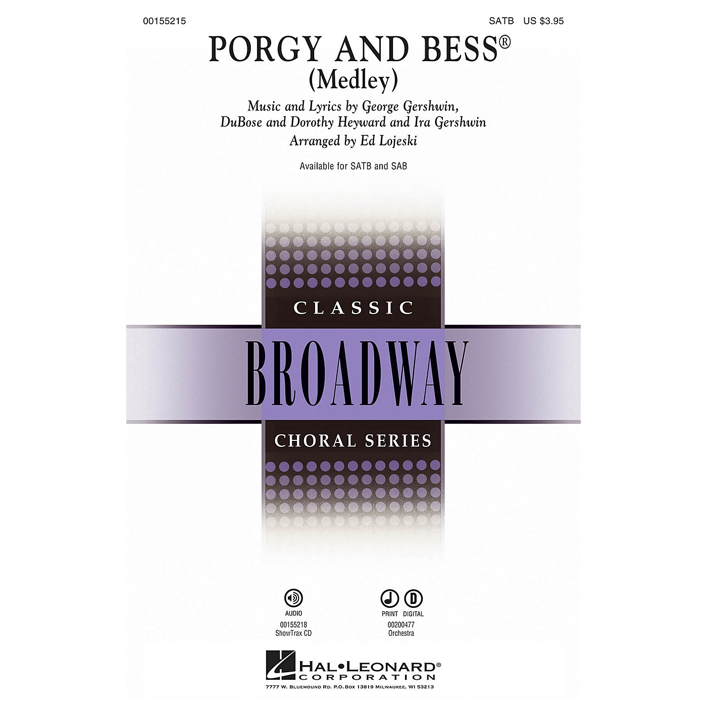Hal Leonard Porgy and Bess (Medley) SAB Arranged by Ed Lojeski thumbnail