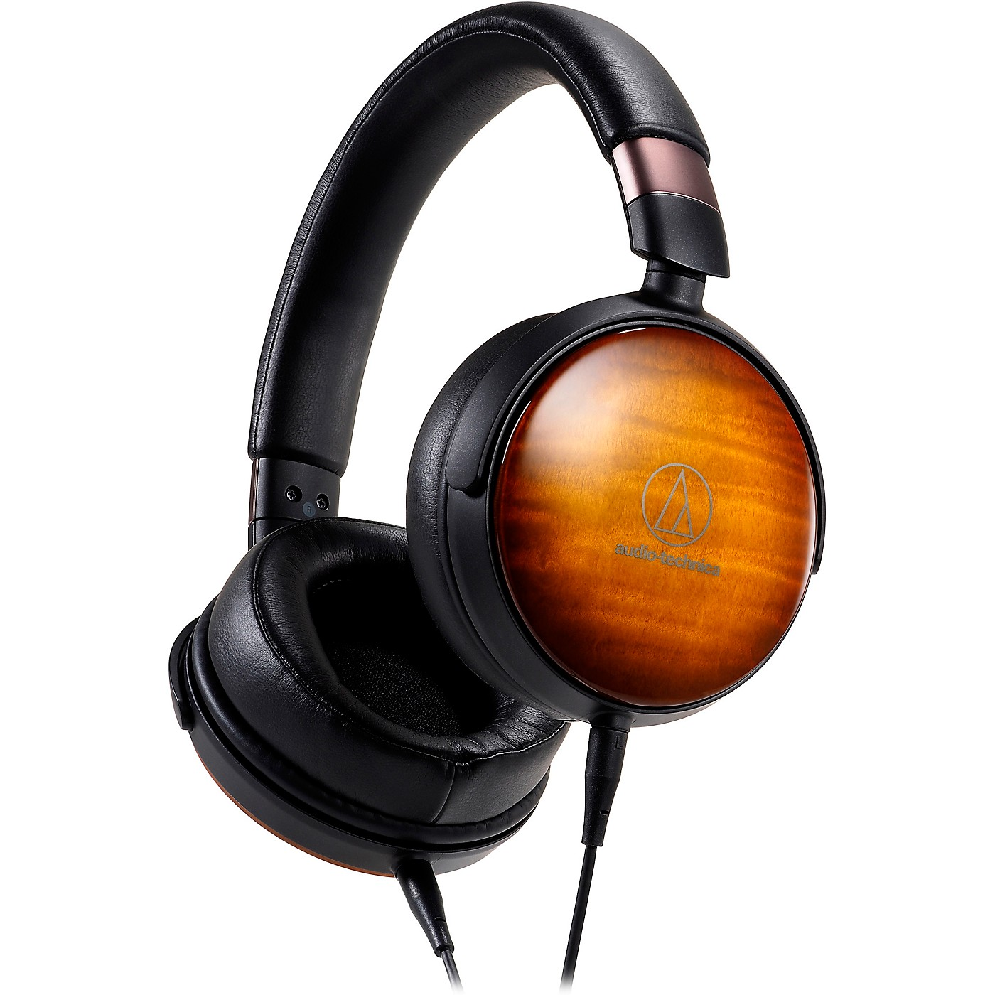 Audio-Technica Portable Over-Ear Wooden Headphones thumbnail