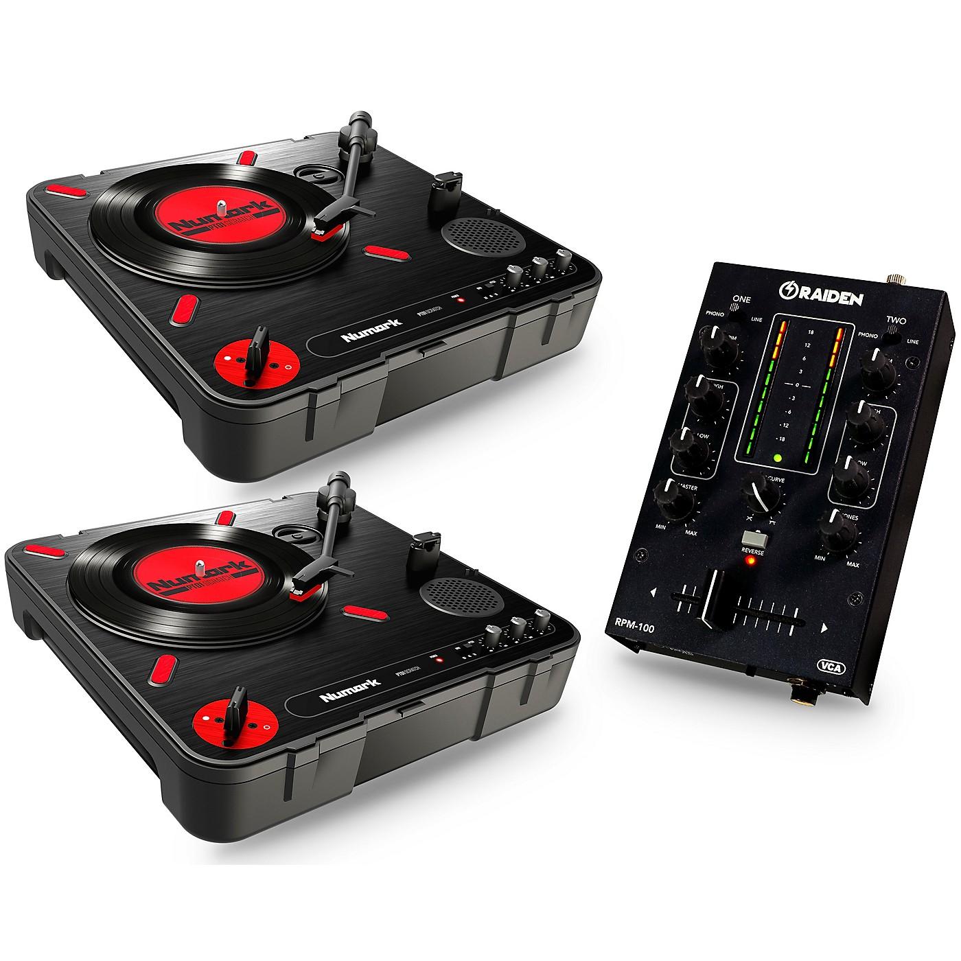 Numark Portablism Battle Bundle with PT-01 Scratch Turntables and RPM-100 Portable DJ Mixer thumbnail