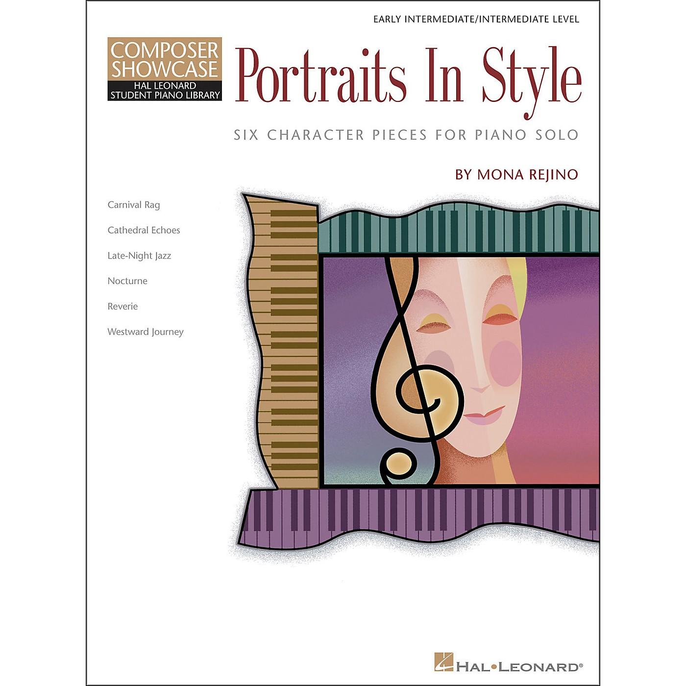 Hal Leonard Portraits In Style - Early Intermediate/Intermediate Level Composer Showcase Hal Leonard Student Piano Library by Mona Rejino thumbnail