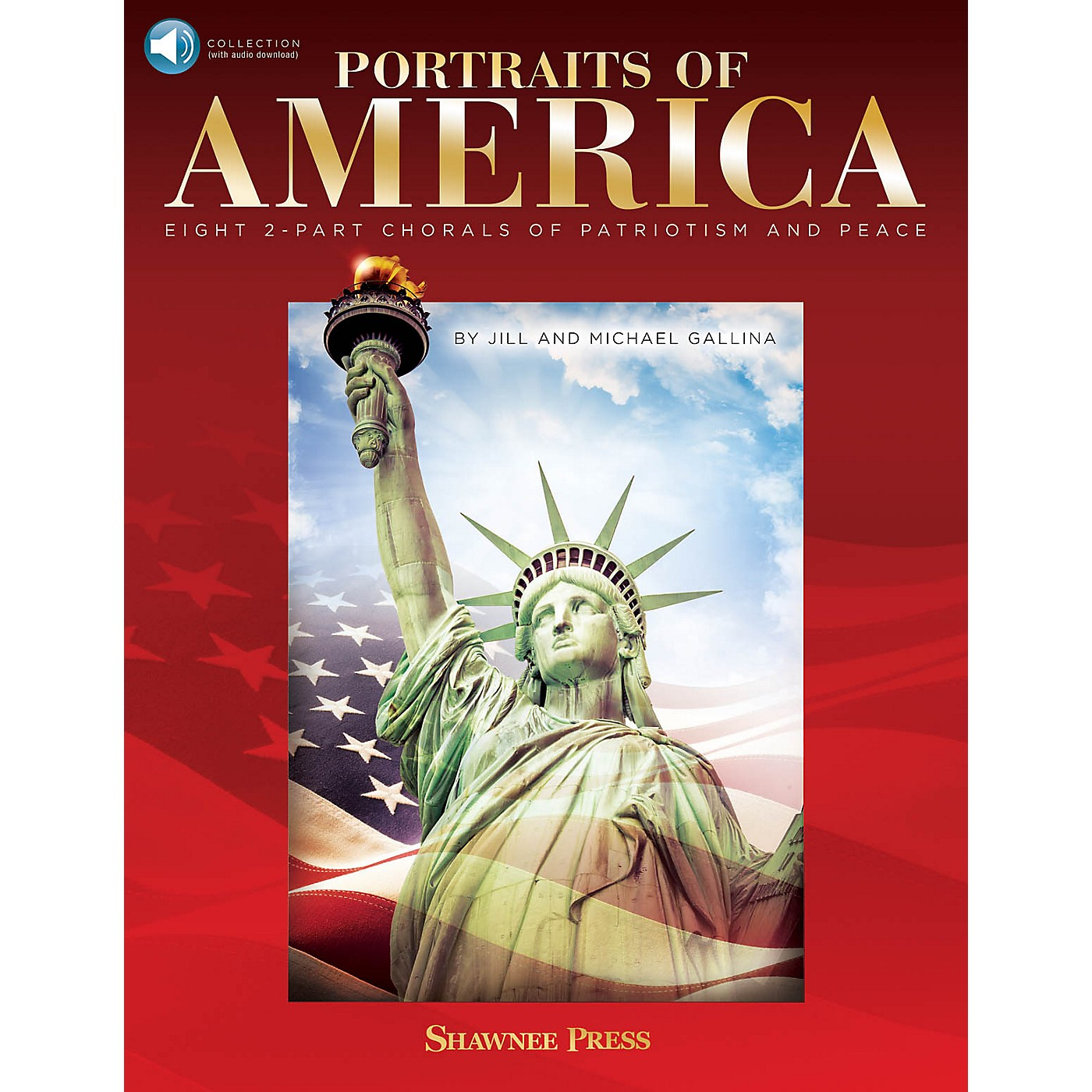 Hal Leonard Portraits of America BOOK WITH AUDIO ONLINE Composed by Jill Gallina thumbnail