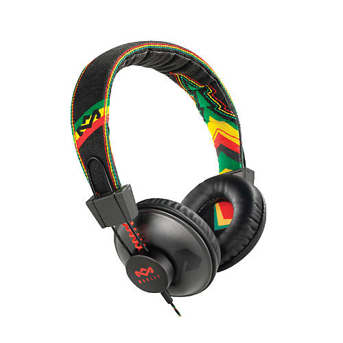 The House of Marley Positive Vibration - Rasta On-ear Headphone (3-button controller)-thumbnail