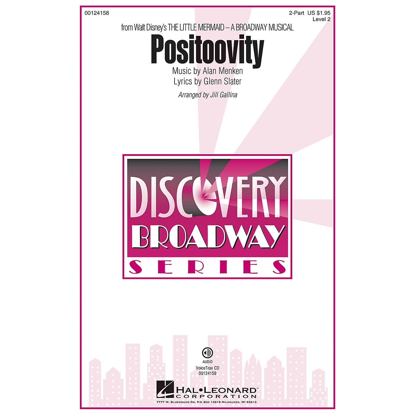 Hal Leonard Positoovity (from Walt Disney's The Little Mermaid) Discovery Level 2 2-Part arranged by Jill Gallina thumbnail