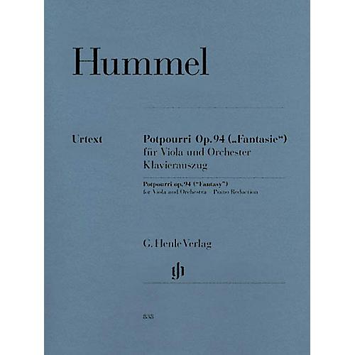 G. Henle Verlag Potpourri Op. 94 (Fantasy) Henle Music Folios Series Softcover thumbnail