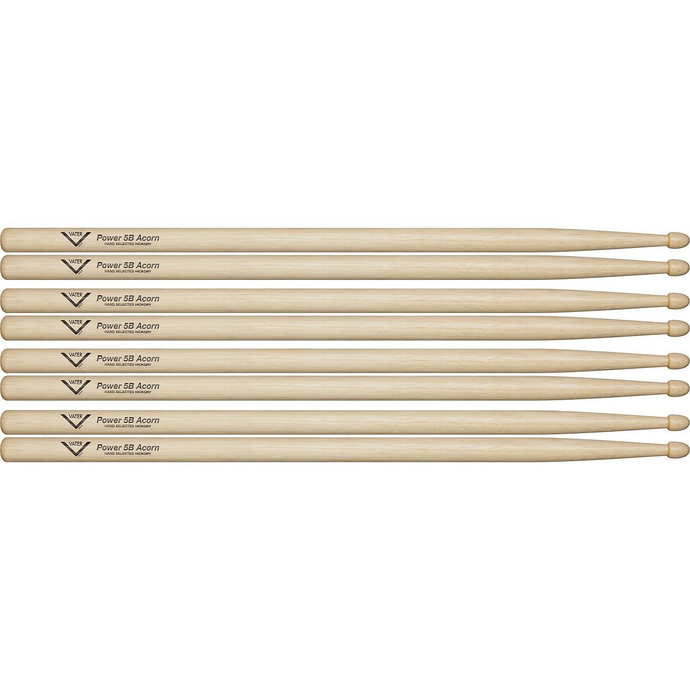 Vater Power 5B Acorn Drum Sticks - Buy 3, Get 1 Free Value Pack thumbnail