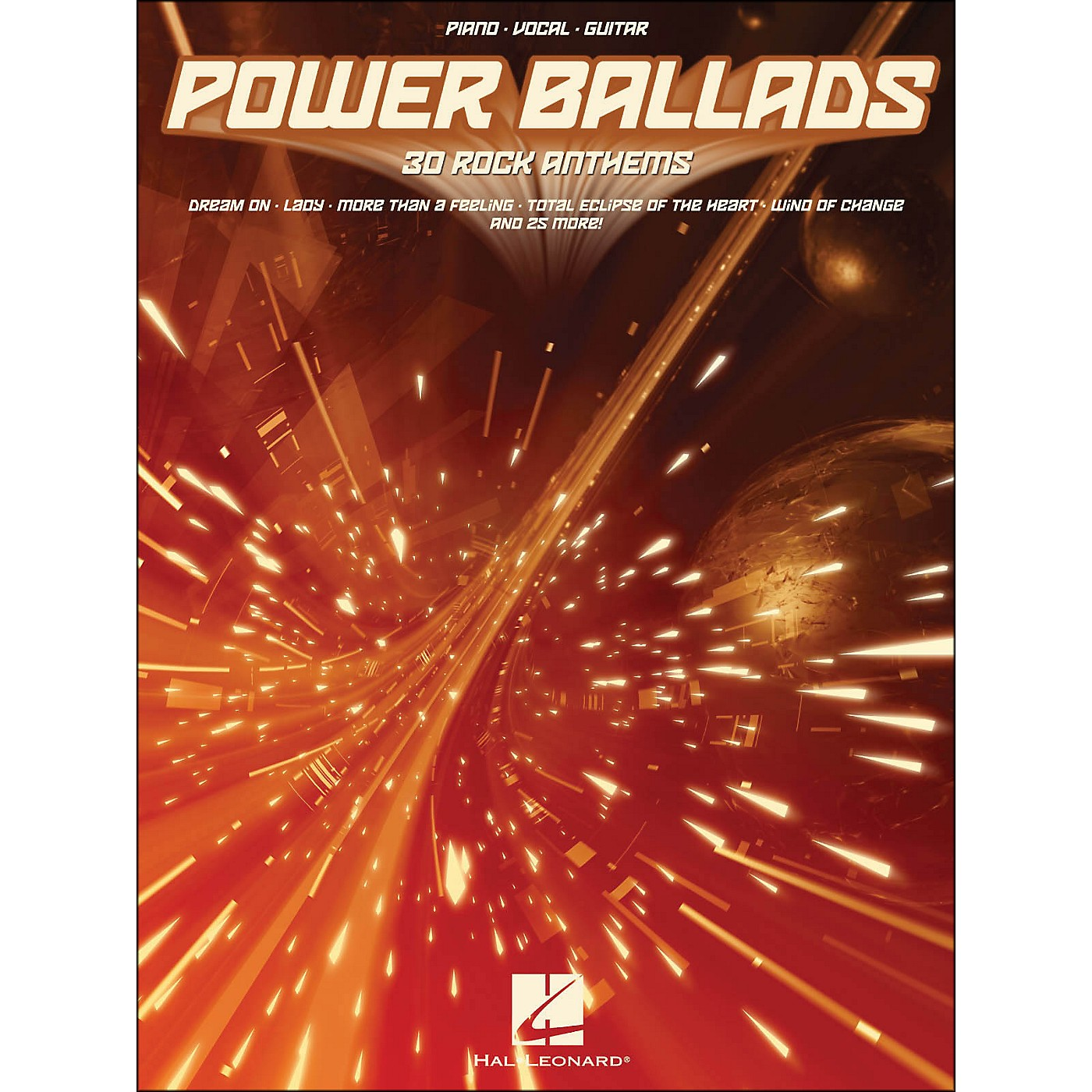 Hal Leonard Power Ballads 30 Rock Anthems arranged for piano, vocal, and guitar (P/V/G) thumbnail