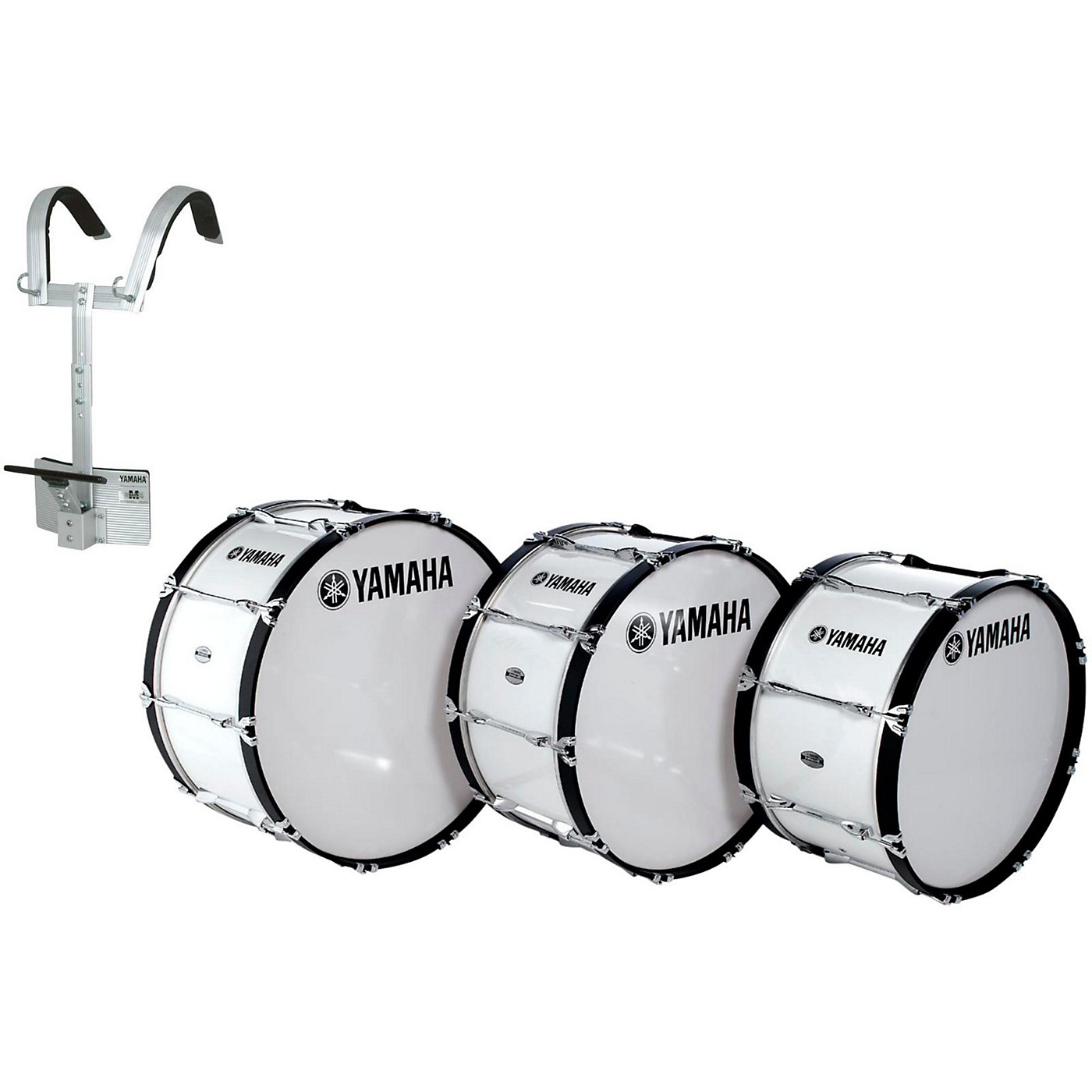 Yamaha Power-Lite Marching Bass Drum with Carrier thumbnail