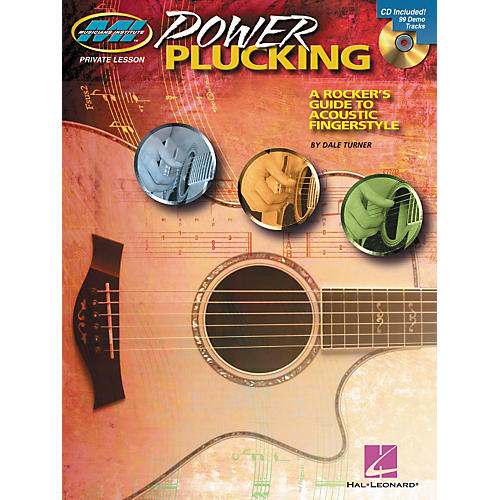 Hal Leonard Power Plucking - A Rocker's Guide to Acoustic Fingerstyle Guitar - Book/CD thumbnail