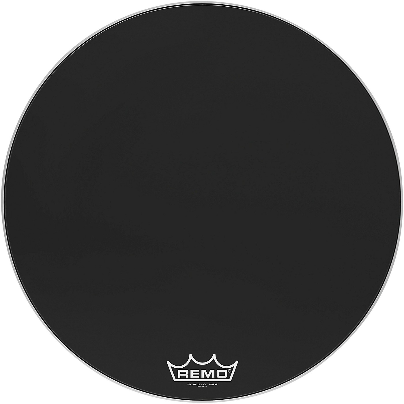 Remo Powermax 2 Ebony Crimplock Bass Drum Head thumbnail