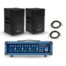 Phonic Powerpod 415R Mixer with KPX Speakers PA Package