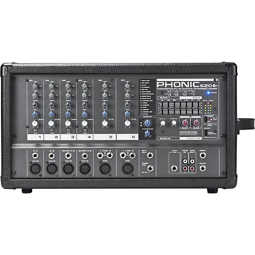 Phonic Powerpod 620 PLUS 200-Watt 6-Channel Powered Mixer with DFX-thumbnail