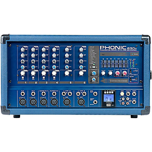 Phonic Powerpod 630R 300W 6-Channel Powered Mixer with USB Recorder thumbnail