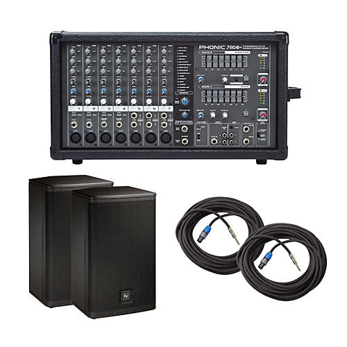 Phonic Powerpod 780 Plus Mixer with ELX Speakers PA Package thumbnail
