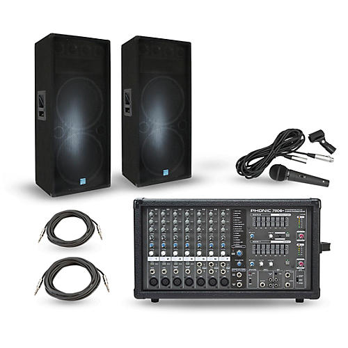 Phonic Powerpod 780 Plus Mixer with GSM Speakers PA Package thumbnail