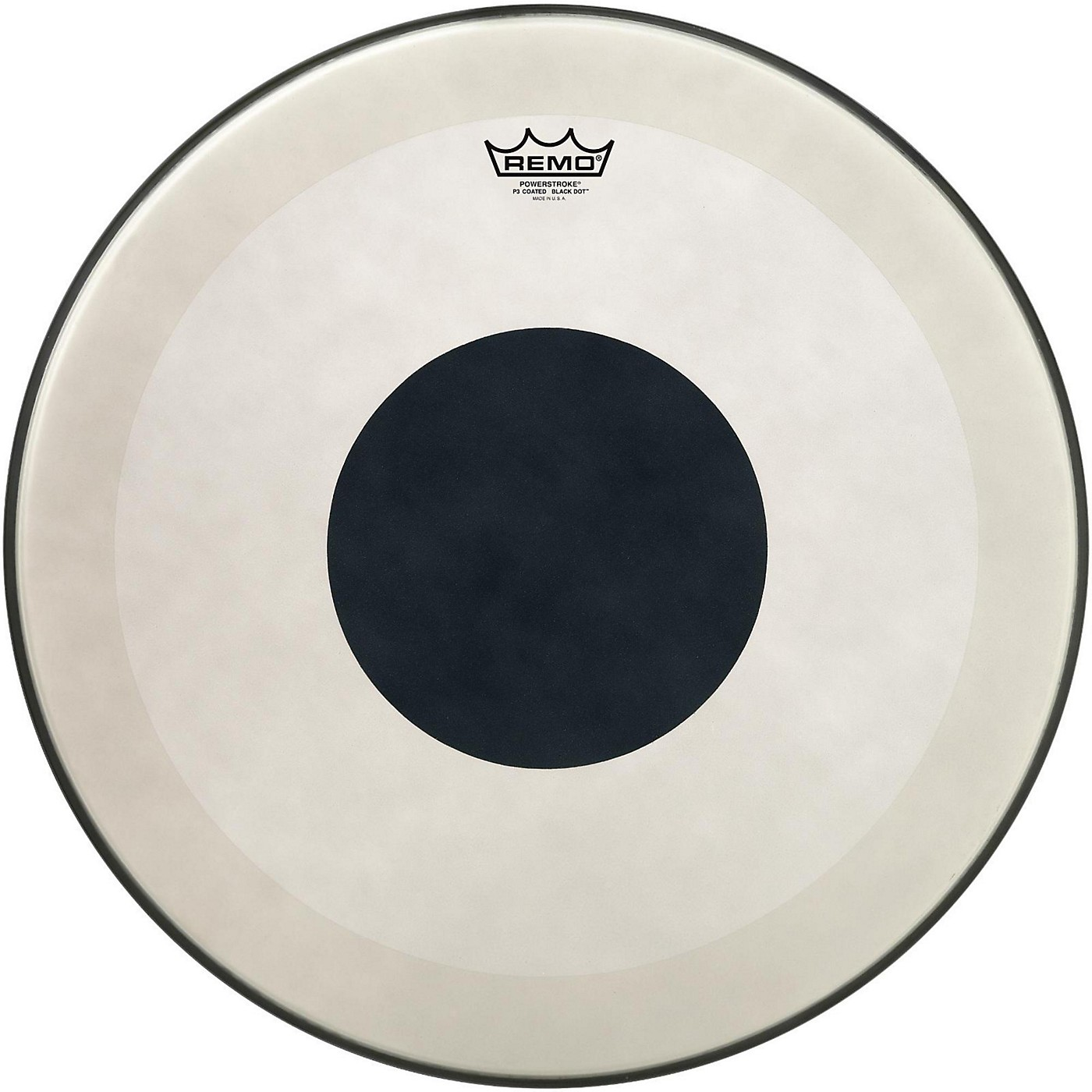 Remo Powerstroke 3 Coated Bass Drum Head with Black Dot thumbnail