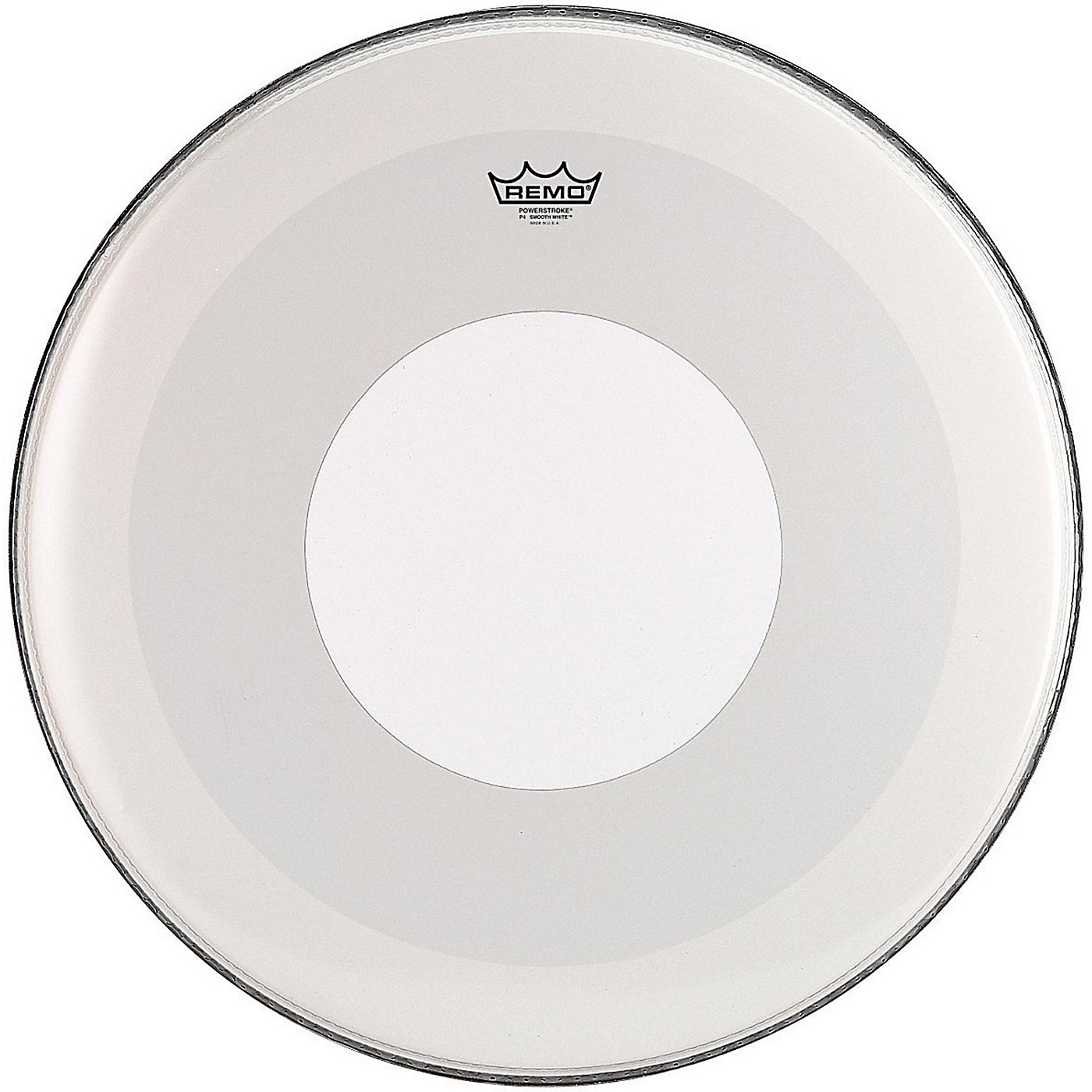 Remo Powerstroke 4 Smooth White Batter Bass Drum Head with White Dot thumbnail